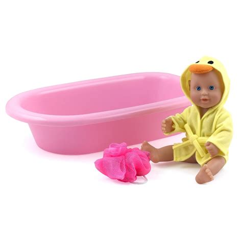 bathtub baby doll dolls world bathtime bathable vinyl bath baby doll set