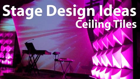 Building A Tent Platform church stage design ideas ceiling tiles youtube
