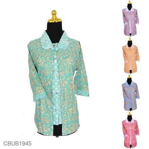 Blus Bolero blus bolero tanggung motif daun warna blus lengan