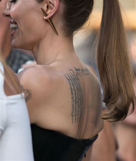 angelina jolie new tattoo persian angelina jolie says brad pitt is horrified that their