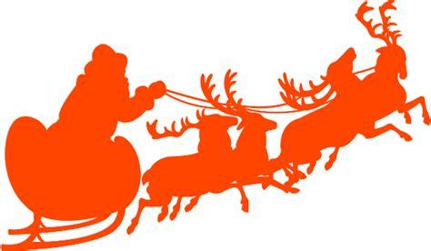 santa sleigh and reindeer silhouette santa sleigh and reindeer silhouette free vector silhouettes