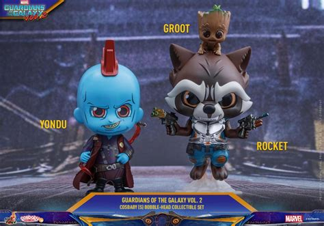 Cosbaby 360 Groot Set Of 3 Guardian Of The Galaxy Vol 2 Toys rocket groot yondu cosbaby s bobble collectible