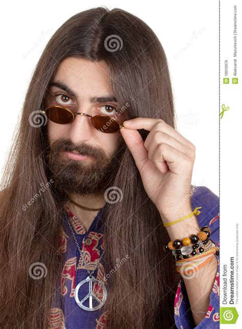 long hair equals hippie long haired hippie man royalty free stock image image