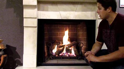 gd80 napoleon madison gas fireplace log set burn video