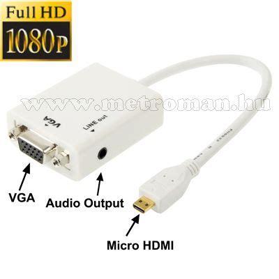 Konverter Mini Hdmi To Vga Aktif With Audio micro hdmi vga 225 talak 237 t 243 konverter okos telefonhoz tablethez mlogic pc 0395 vga