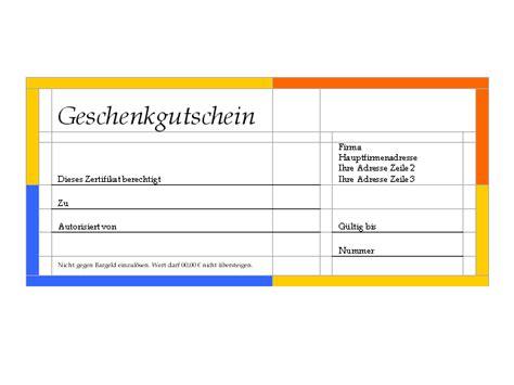 Vorlage Word Gutschein Word Vorlage Geschenkgutschein Freeware