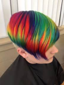 colored hair dye rainbow hair color strayhair