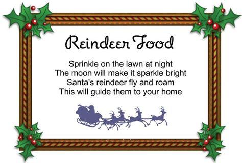 free printable reindeer dust poem reindeer food poem template new calendar template site