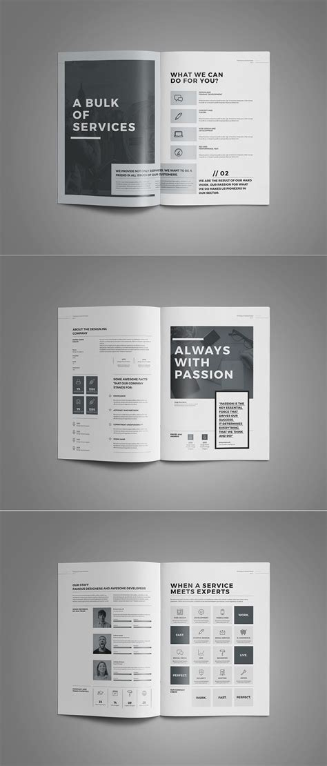 new of architecture brochure templates stunning design architect a3