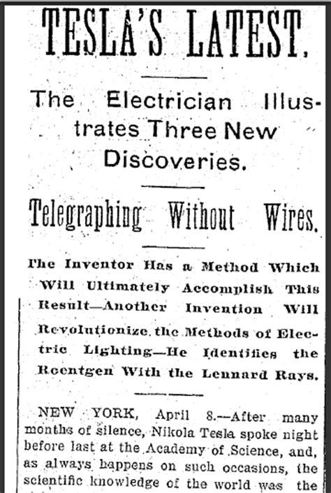 Nikola Tesla Article Today In History Yet Brilliant Inventor Nikola