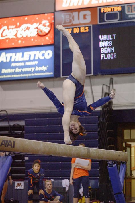 illinois womens gymnastics takes   big  meet