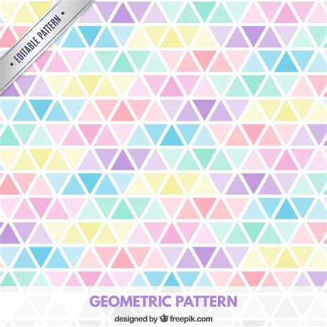 pattern vector color triangles pattern in pastel colors vector free download