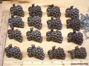 16 rustic grape drawer knobs cabinet pulls iron grapes ebay