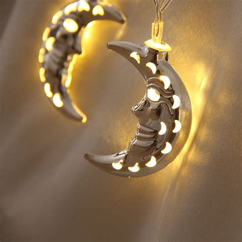 20 Led Battery Operated Hollow Moon String Light Gardeng Battery Operated 20 Led String Lights