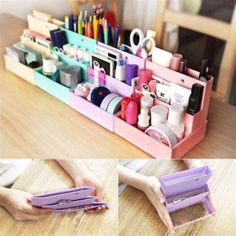Box Organizer Make Up diy folding paper cardboard storage box makeup cosmetic