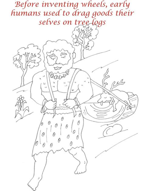 coloring pages early man 4 5 coloring page early humans coloring page