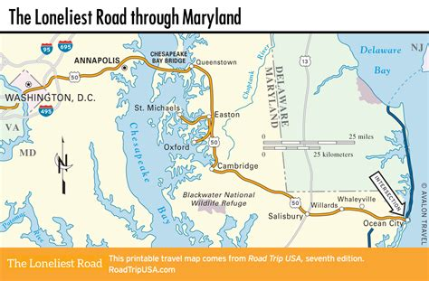 road map of maryland usa the loneliest road across maryland road trip usa