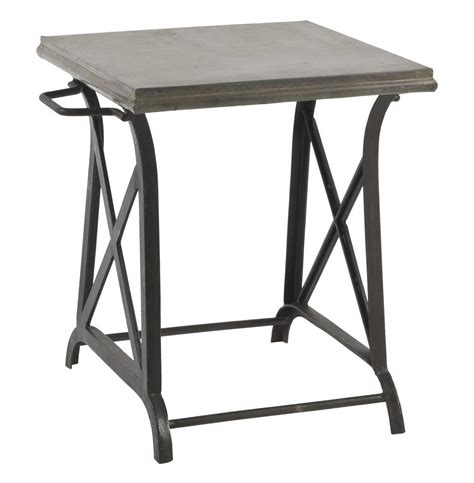 Iron Side Table Xander Wrought Iron Industrial Loft Crossing Side Table Kathy Kuo Home