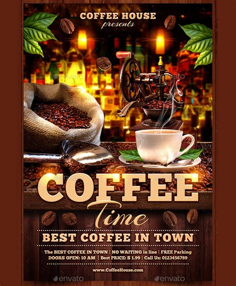 Attractive Flyer For Coffee House Flyer Templates Pinterest Flyer Template And Template Attractive Flyer Templates
