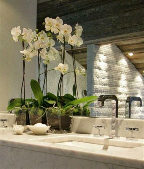 badezimmer deko orchidee orchideen unterstreichen die sch 246 nheit der dekoration im