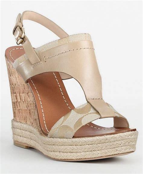 coach mendez womens signature wedges slingback heels shoes