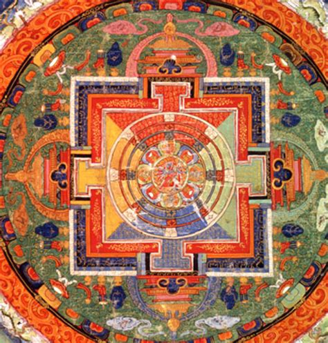 buddhism colors mandala of the buddhist deity chakrasamvara the