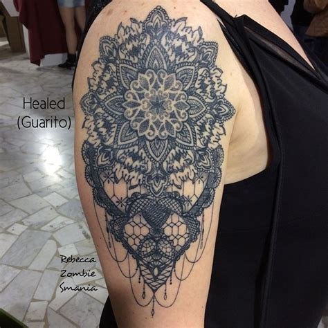 baroque mandala shoulder tattoo best tattoo ideas gallery