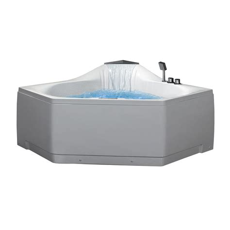 ariel 5 ft whirlpool tub in white am168jdtsz the home depot