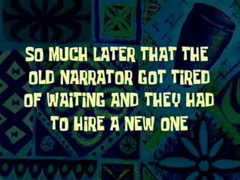 day narrator spongebob time cards