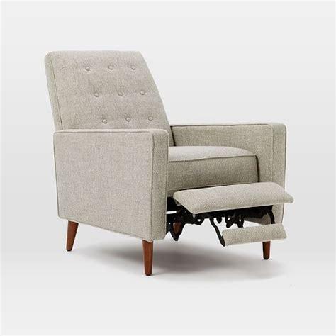 mid century recliner rhys mid century recliner west elm