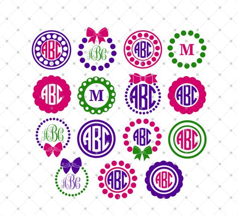 monogram ideas circle monogram frame svg cut files 4 circle monogram