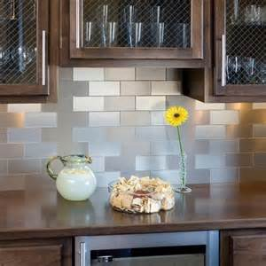 Adhesive Kitchen Backsplash Contemporary Kitchen Stainless Steel Self Adhesive Backsplash Tiles Diy Ideas 2015 Interior