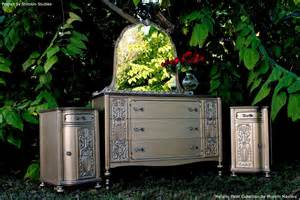 using metallic paint to transform furniture modern