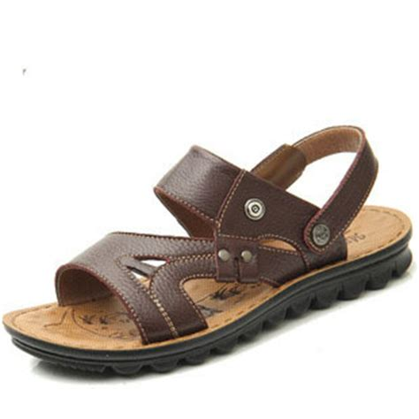 quality leather slippers mens udod quality summer mens sandals genuine leather cowhide