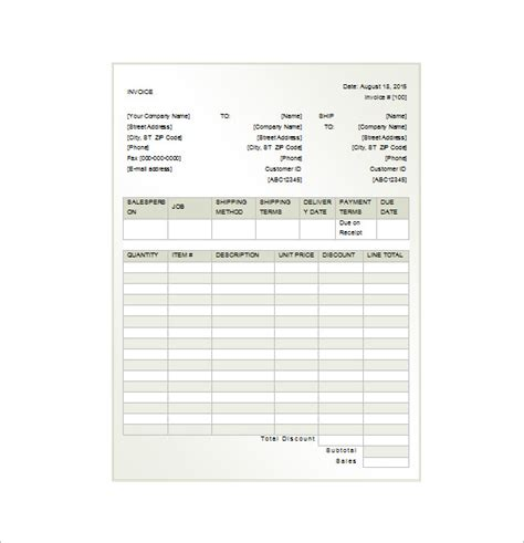 invoice receipt template 15 free word excel pdf format
