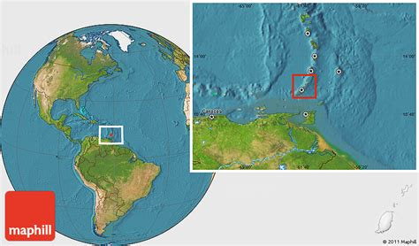 where is grenada located on a world map physical location map of grenada satellite outside