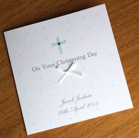 Handmade Personalised Christening Cards - 17 best ideas about handmade christening cards on