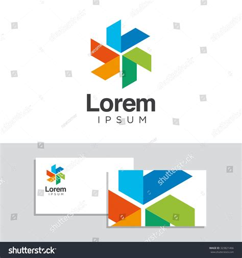 design elements company logo design elements business card template stock vector