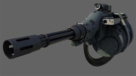 Kaos 3d Gafting Gun gatling gun 3d max weapon guns 3d and weapons
