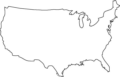 usa state map blank printable map of usa free printable maps