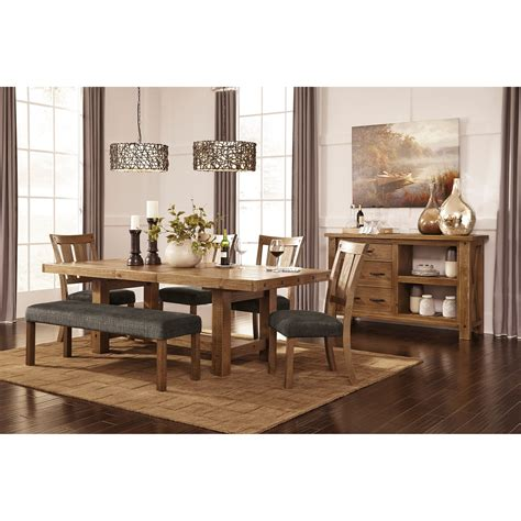 rectangle dining room table rectangle dining room table with leaf by signature design