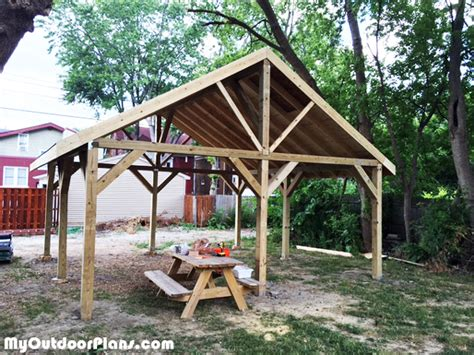 building a backyard pavilion diy 20x20 pavilion myoutdoorplans free woodworking
