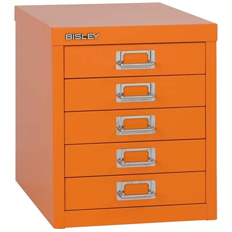 Orange Filing Cabinet Bisley 5 Multidrawer Filing Cabinet H125nl Orange
