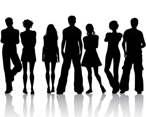silhouette vector silhouette people www imgkid com the image kid has it