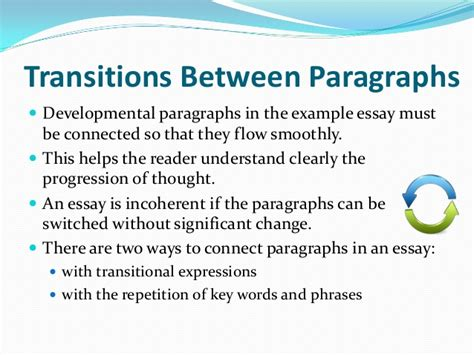 Transition In An Essay by Exle Essay