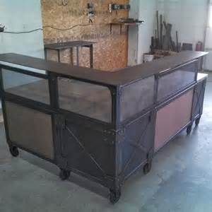 Industrial Style Reception Desk Real Industrial Edge Furniture Llc Reception Desks