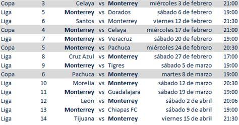 Calendario De Rayados 2015 Calendario Rayados Clausura 2016 Y Copamx Apuntes De Futbol