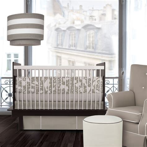 Modern Crib Bedding Sets Oilo Modern Berries Taupe Crib Bedding Set Free Shipping On Crib Bedding Sets
