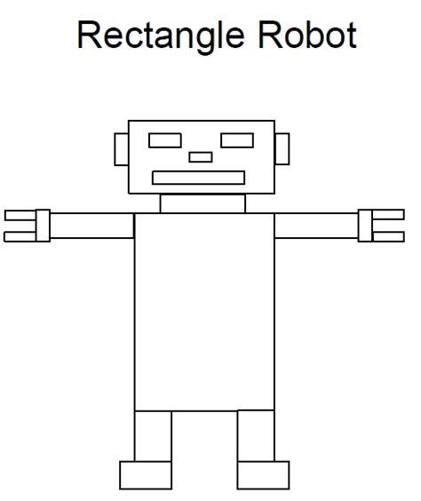 shape robot template rectangle worksheet robot preschool http www