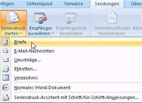 Etiketten Drucken Serienbrief Word 2007 by Serienbrief Erstellen